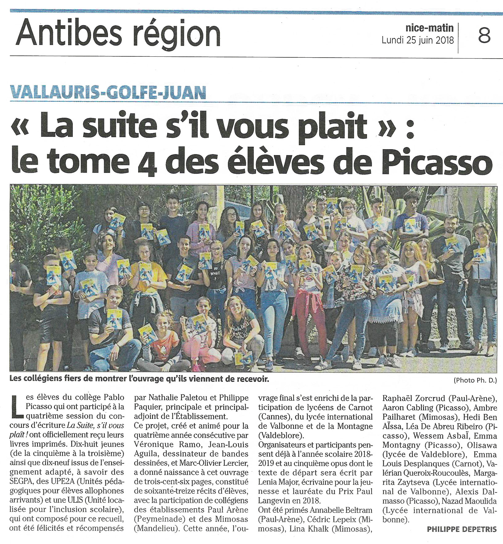 Article Nice Matin Remise livres LSSVP 4