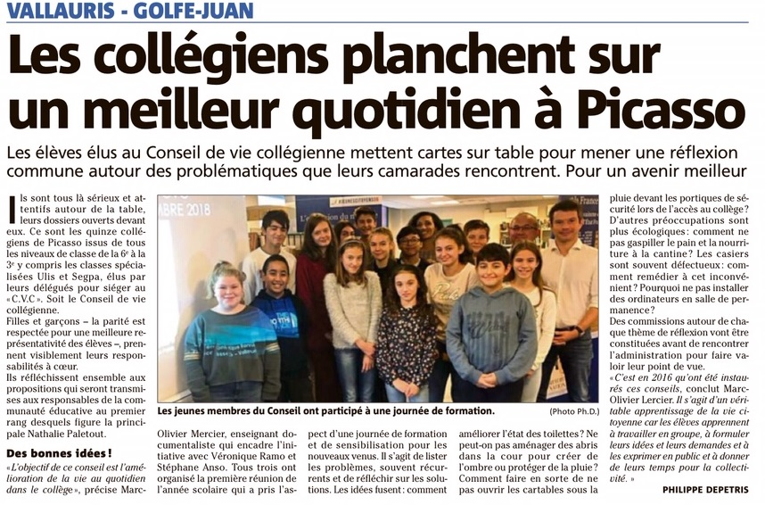 Article Nice Matin CVC